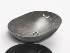 Lavabo da appoggio ovale in marmo CIOTOLA 60 | Lavabo in marmo -