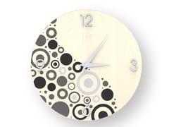 Orologio da parete in legno intarsiatoCIRCLES COLD | Orologio - LEONARDO TRADE