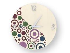 Orologio da parete in legno intarsiato CIRCLES COLORS | Orologio - DOLCEVITA BRIO