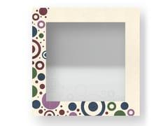 Specchio quadrato da parete con cornice CIRCLES COLORS | Specchio - DOLCEVITA BRIO
