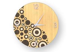 Orologio da parete in legno intarsiato CIRCLES WARM | Orologio - DOLCEVITA BRIO