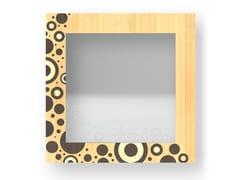 Specchio quadrato da parete con cornice CIRCLES WARM | Specchio - DOLCEVITA BRIO