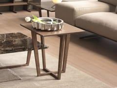 Tavolino basso in legno impiallacciato CITY | Tavolino quadrato -
