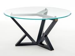 Tavolo rotondo in legno e vetro CITYLIFE | Tavolo rotondo - Milano Collection