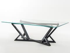 Tavolo da pranzo rettangolare in legno e vetro CITYLIFE | Tavolo rettangolare - Milano Collection