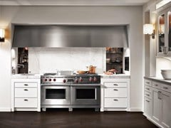 Cucina con zona cottura con ante scorrevoli in marmoSieMatic CLASSIC - SE 2002 BS - SIEMATIC MÖBELWERKE