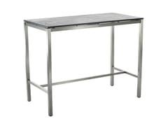 Tavolo alto da giardino rettangolare in ceramica CLASSIC STAINLESS STEEL | Tavolo alto - Classic Stainless Steel