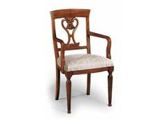 Sedia in legno massello con schienale aperto CAVOUR | Sedia con braccioli - Cavour