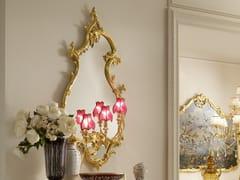 Specchio foglia oro da parete con illuminazione integrata OPERA | Specchio con illuminazione integrata - Opera