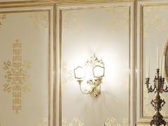 Lampada da parete foglia oro con braccio fisso OPERA | Lampada da parete - Opera