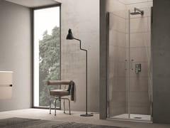 INDA®, CLAIRE DESIGN - 9 Box doccia a nicchia con porta saloon