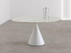 Tavolo rotondo con piano in marmo Calacatta Oro CLAY | Tavolo rotondo - Clay