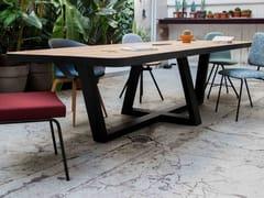 Tavolo rettangolare in acciaio e legnoCLEOPATRE BISEAUTE - FOR ME LAB