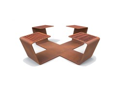 Panchina in metallo senza schienaleCLIP - EUROFORM K. WINKLER