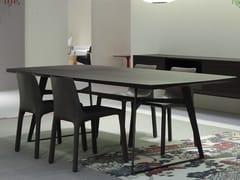 Tavolo rettangolare in legno impiallacciato CLIPPER | Tavolo -