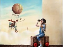 Carta da parati panoramica in JET TEX per bambiniCLOUD FISHERMAN - ACTE DECO