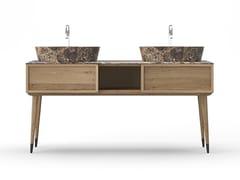 Mobile lavabo doppio in rovere COCÒ 025/2 | Mobile lavabo - Cocò