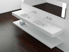 Lavabo doppio sospeso con pianoCODE | Lavabo doppio - ABSARA INDUSTRIAL