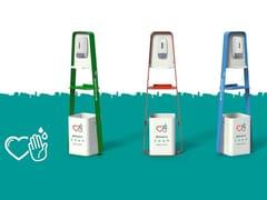 Totem distributore di gel igienizzante in acciaioCODOGNO - DIMCAR