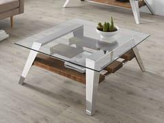 Tavolino basso da caffè in vetro in stile moderno da salottoNORDIC | Tavolino da caffè - ALTINOX MINIMAL DESIGN