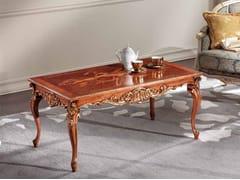 Tavolino basso rettangolare in legno masselloLAWRENCE | Tavolino - ARVESTYLE