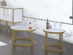 Tavolino ovale in metallo e Solid SurfaceMY WAVE | Tavolino - BOFFETTO