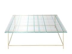 Tavolino basso da caffè quadrato in vetroGRASSI | Tavolino da caffè - FARGO HONGFENG INDUSTRIAL
