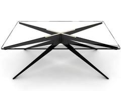 Tavolino rettangolare in acciaio e vetro da salottoDEAN | Tavolino da salotto - GABRIEL SCOTT