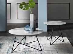 Tavolino rotondo in vetro-marmoERMIONE | Tavolino rotondo - MEMEDESIGN