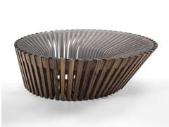 Tavolino ovale in legno e vetroYIN & YANG | Tavolino - RIVA 1920