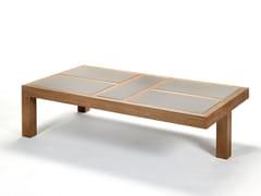 Tavolino basso da giardino rettangolare in ceramicaNARA | Tavolino rettangolare - ROYAL BOTANIA