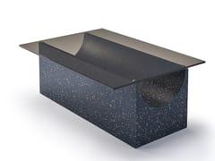 Tavolino rettangolare con base in iQ Surface piano in vetroVESTIGE | Tavolino - SANCAL