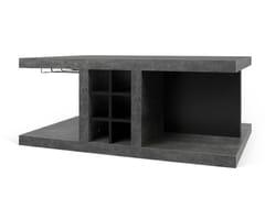 Tavolino basso rettangolare in legnoDETROIT | Tavolino con vano contenitore - TEMAHOME