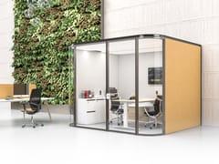Isola ufficio acustica in tessuto a parete COLLABORATIVE ROOM W -