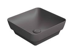 Lavabo a semincasso quadrato in ceramicaPURA 38/TI - GSI CERAMICA