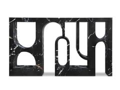 Consolle in finto marmo nero marquina verniciato lucidoCOLOSSEUM II - BRABBU DESIGN FORCES