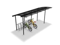 Pensilina in metallo per biciclette e motoriniCOMBI BIKE | Pensilina - EUROFORM K. WINKLER