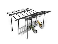 Pensilina in metallo per biciclette e motoriniCOMBI BIKE | Pensilina per biciclette e motorini - EUROFORM K. WINKLER