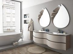Mobile lavabo doppio sospeso con cassetti COMPONIBILE 8 - Urban