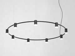 LAMPADA A SOSPENSIONE A LED IN ALLUMINIO PRESSOFUSOCOMPOSE RAILS ROUND - ZERO