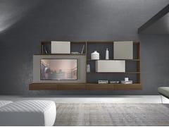 Parete attrezzata componibile fissata a muro in legno CrossART - 506 - CrossART
