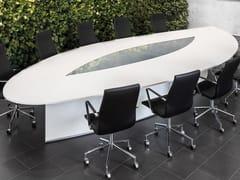 Tavolo da riunione ad altezza regolabile ovale.CON AIR | Tavolo da riunione ovale - SPIEGELS
