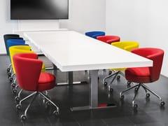 Tavolo da riunione ad altezza regolabile rettangolare.CON AIR | Tavolo da riunione rettangolare - SPIEGELS