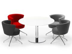 Tavolo da riunione ad altezza regolabile rotondo.CON AIR | Tavolo da riunione rotondo - SPIEGELS