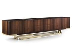 Madia bifacciale in legno con ante a battente e cassettiCONCORD | Madia in legno - LONGHI