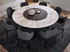 Tavolo rotondo in marmo con Lazy Susan CONCORDE | Tavolo in marmo - Concorde