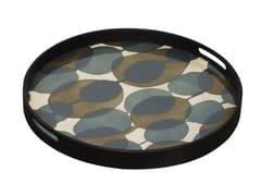 Vassoio rotondo in vetro CONNECTED DOTS - Translucent Silhouettes