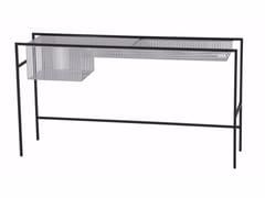 Consolle rettangolare in acciaio e vetro AGRAFE | Consolle - Agrafe