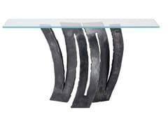 Consolle rettangolare in ferro e vetroFLEUR DE FER | Consolle - ROCHE BOBOIS