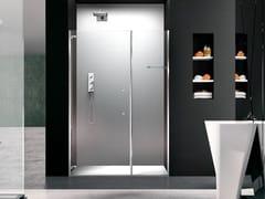 Box doccia a nicchia in vetro con porta a battentePRISMA 1.0 | Box doccia in stile moderno - MEGIUS